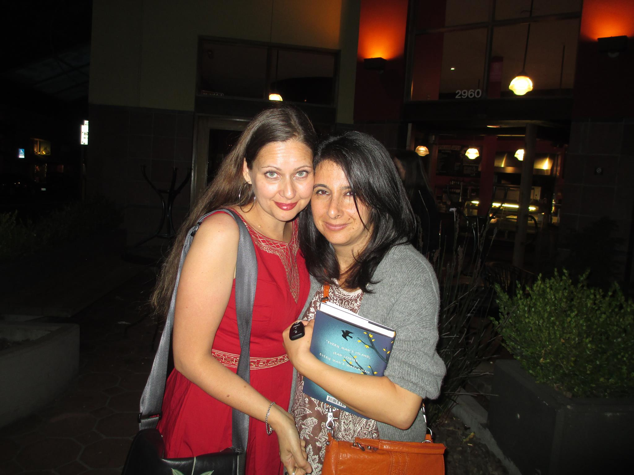 With Parnaz Foroutan, author of THE GIRL FROM THE GARDEN, after reading  together at Mrs. Dalloways in Berkeley.