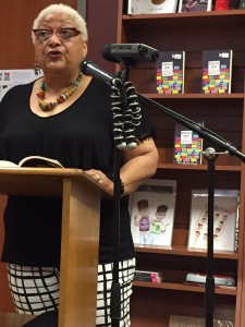 Jewelle Gomez reading from her contribution to RADICAL HOPE at the book launch party, Laurel Bookstore, Oakland, CA.