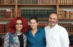 Mona Eltahawy, Carolina De Robertis, and Boris Fishman at the RADICAL HOPE event at Strand Bookstore in New York.